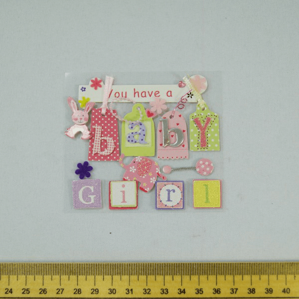 13 x Baby Girl Cute Christening Embellishments Craft Cardmaking Scrapbooking