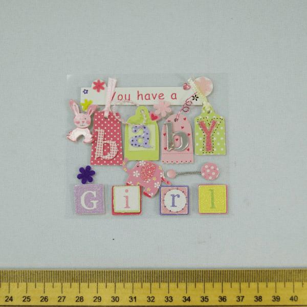 13 x Baby Girl Cute Christening Embellishments Craft Cardmaking Scrapbooking