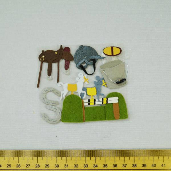 9 x Horse Riding Horses Embellishments Craft Cardmaking Scrapbooking