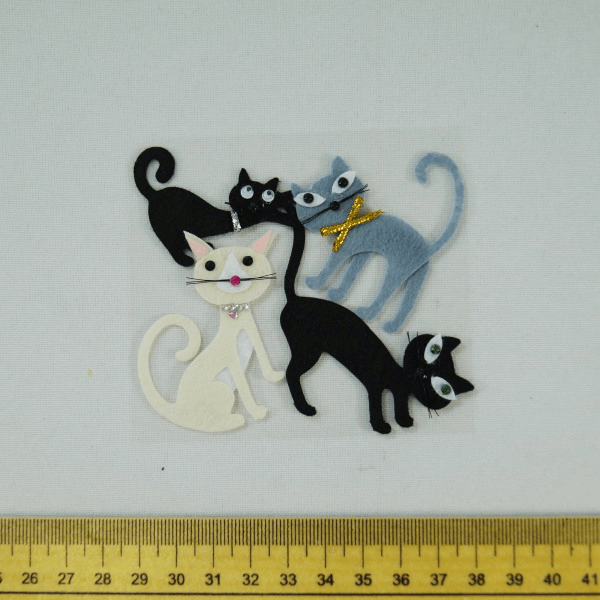 4 x Crazy Cats Kittens Embellishments Craft Cardmaking Scrapbooking