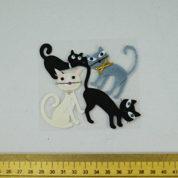 4 x Crazy Cats Kittens Embellishments Craft Cardmaking Scrapbooking