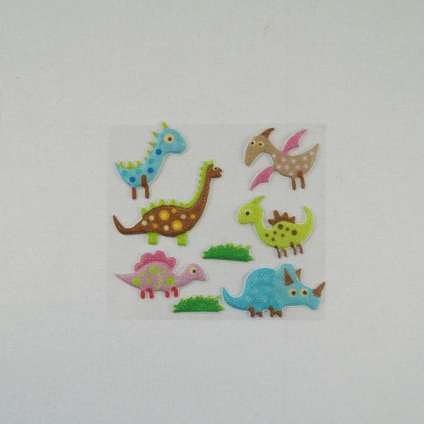 8 x Little Dinosaurs Motifs Embellishments Craft Cardmaking Scrapbooking