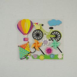9 x Fun in the Sun Summer Bike Park Embellishments Craft Cardmaking Scrapbooking