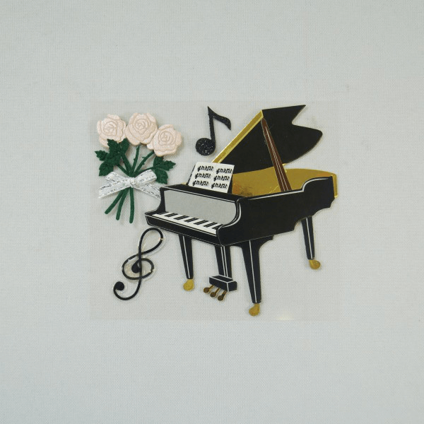 4 x Piano Musical Concert Embellishments Craft Cardmaking Scrapbooking