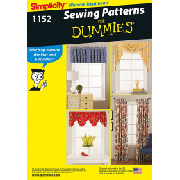 Simplicity Window Valences Curtains For Dummies Fabric Sewing Pattern 1152
