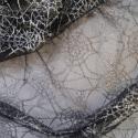 Silver Spiderweb Net Lace Fabric