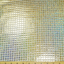 Hologram Shiny Square Sequins 100% Polyester Fancy Dress Costume Dance Fabric