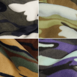 Undercover Camouflage Design Printed Polar Fleece Anti Pil Fabric