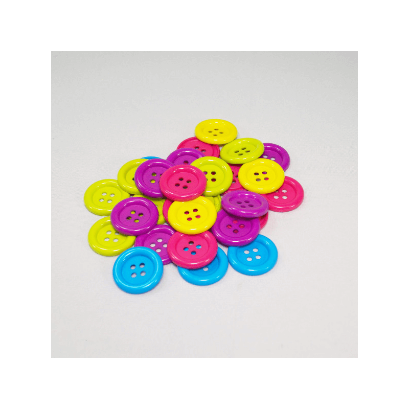 65g Round  Jumbo Buttons Assorted Colours Craft Scarpbook