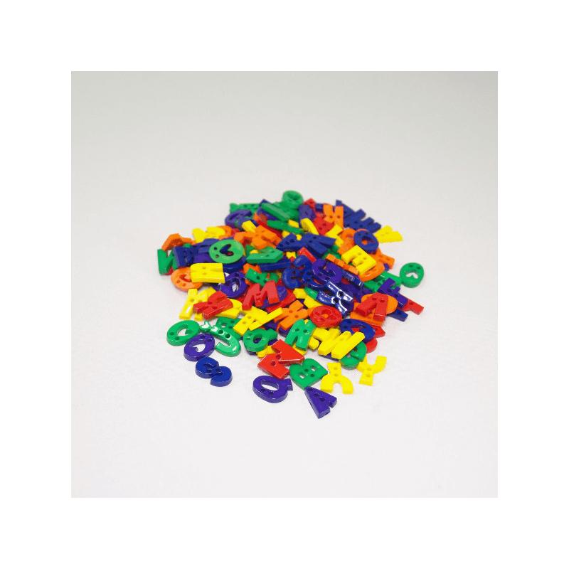 75g Alphabet Buttons Assorted Colours Craft Scarpbook Trimits