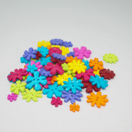 75g Flower Buttons Assorted Colours Craft Scarpbook Trimits