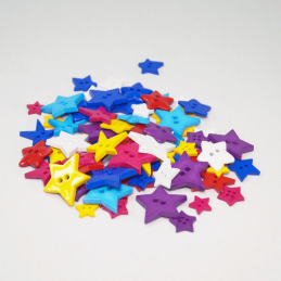 75g Star Buttons Assorted Colours Craft Scarpbook Trimits