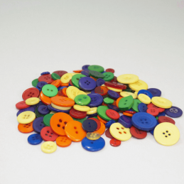 120g Buttons Assorted Primary Colours & Sizes Craft Scarpbook Trimits