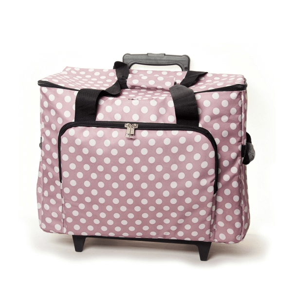 Mauve Polka Dots Spots Sewing Machine Trolley Bag Storage