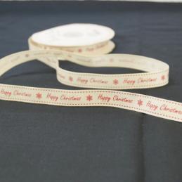 2 Metres 16mm Bertie's Bows Happy Christmas Snowflakes Grosgrain Craft Ribbon
