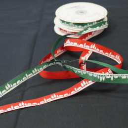 2 Metres 16mm Bertie's Bows Christmas Village Grosgrain Craft Ribbon