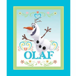 Disney Frozen Dancing Olaf Snowman 90cm x 112cm 100% Cotton Fabric