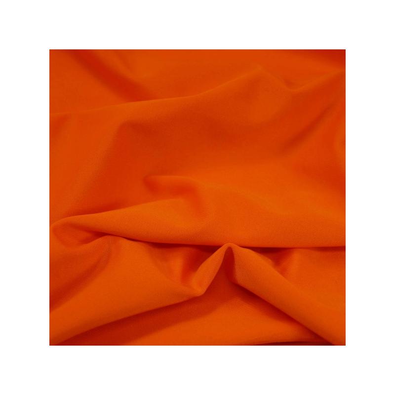 Plain Lycra Spandex Stretch Fabric Orange