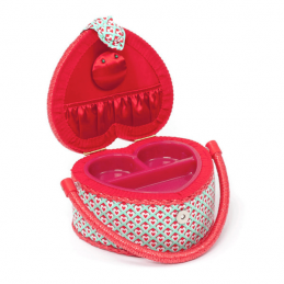 Hearts Heart Shaped Small Square Sewing Craft Hobby Basket