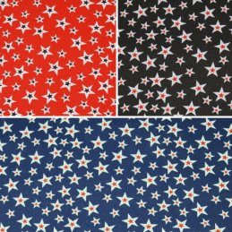 Small To Large Stars Cotton Canvas Fabric 150cm Wide