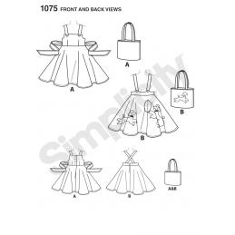 Childs Vintage Skirt Jumper Bag Dress Simplicity Sewing Pattern 1075