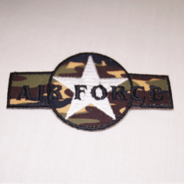 Air Force Star Embroidered Thermo Iron On Motif