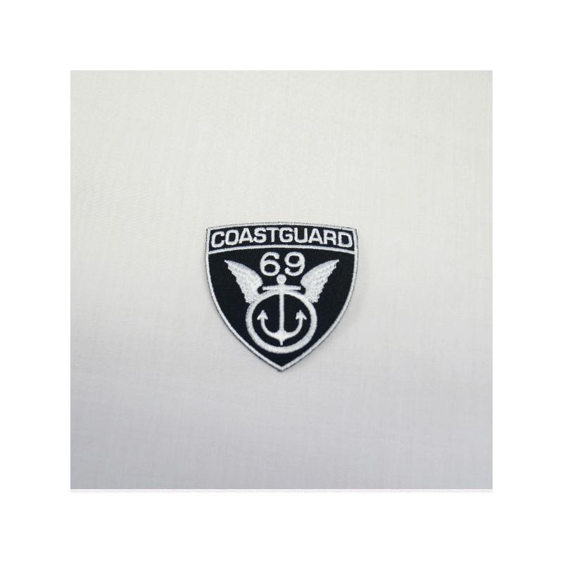 Coastguard 69 Black/White Embroidered Thermo Iron On Motif