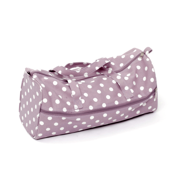 Mauve Spots Polka Dots Rectangle Value Sewing Knitting Craft Hobby Storage Bag