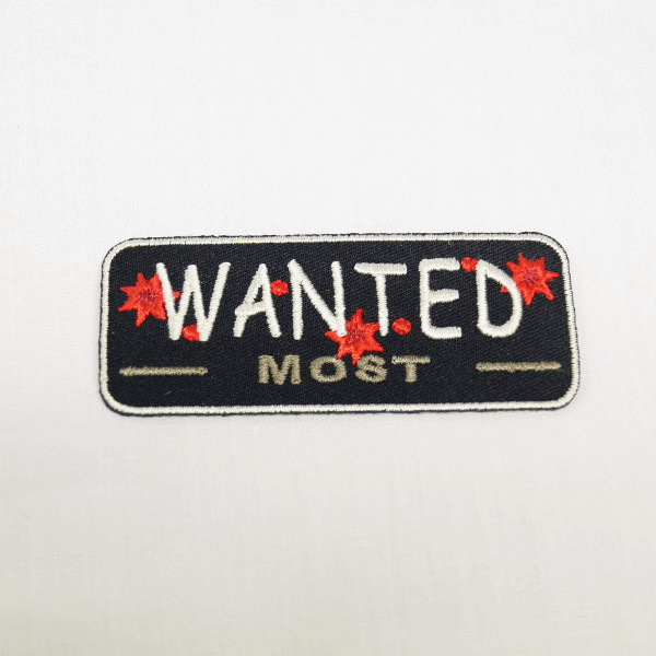 Most Wanted Embroidered Thermo Iron On Motif