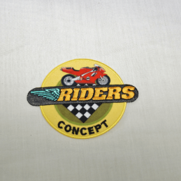 Riders Concept Motorbike Embroidered Thermo Iron On Motif
