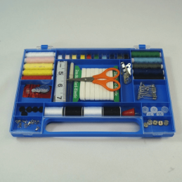 Complete Sewing Kit Blue Hardened Plastic Case