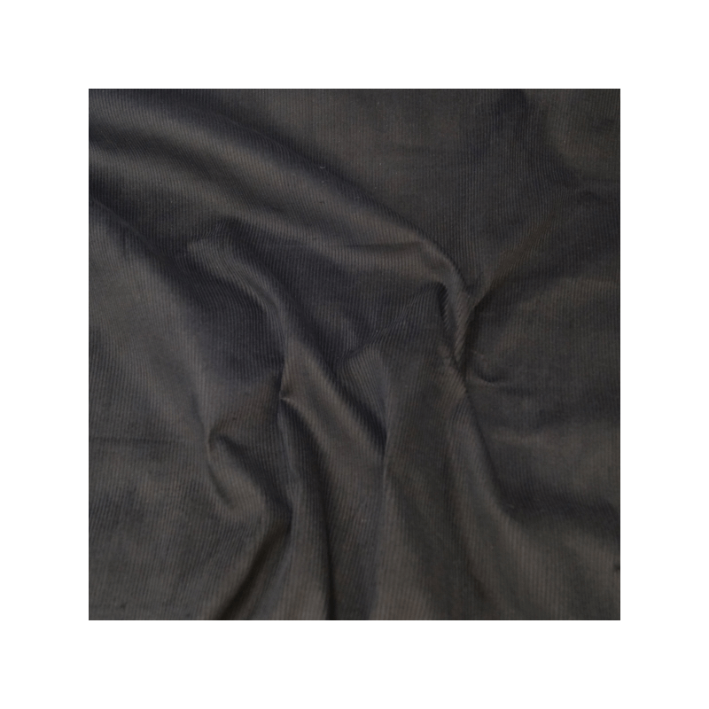 Black 100% Cotton Corduroy Fabric 8 Wale Material