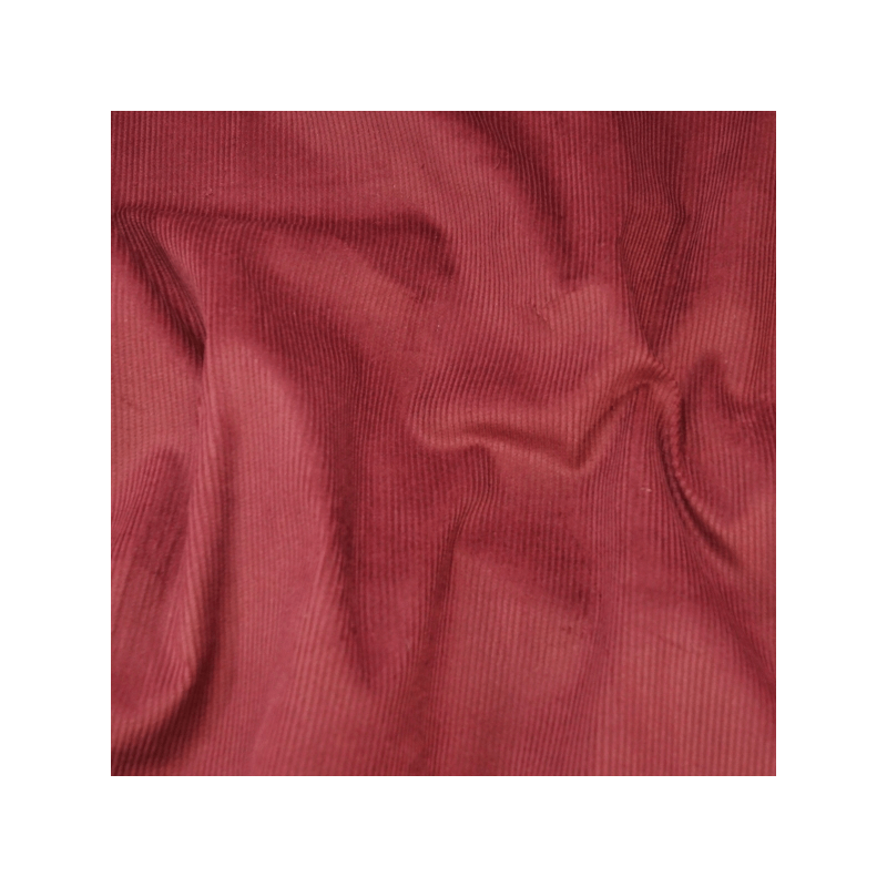 Wine 100% Cotton Corduroy Fabric 8 Wale Material
