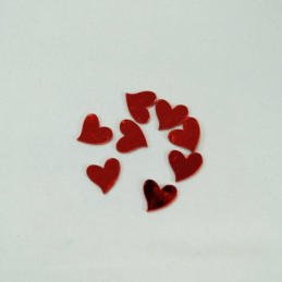 8 x 24mm Red Mirror Love Hearts Embellishments Craft Cardmaking Scrapbooking
