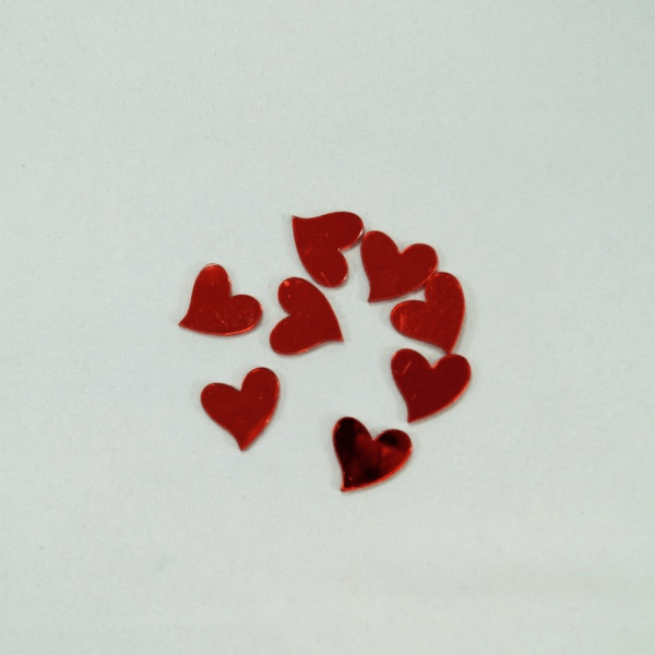 8 x 24mm Red Mirror Love Hearts Embellishments Craft Cardmaking Scrapbooking