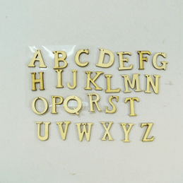 26 x Wooden Full Alphabet Embellishments Craft Cardmaking Scrapbooking