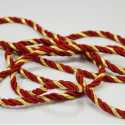 Red/Gold 7mm Lurex Rayon Rope Cord Craft Trimming