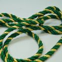 Green/Gold 7mm Lurex Rayon Rope Cord Craft Trimming