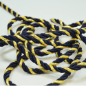 Navy/Gold 7mm Lurex Rayon Rope Cord Craft Trimming