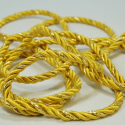 Gold/Gold 7mm Lurex Rayon Rope Cord Craft Trimming