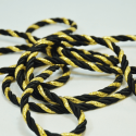 Black/Gold 7mm Lurex Rayon Rope Cord Craft Trimming