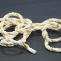 White/Gold 7mm Lurex Rayon Rope Cord Craft Trimming