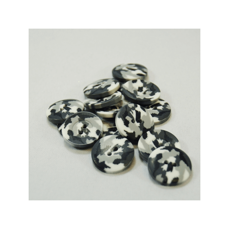 2, 10 or 20 x 20mm Army Camouflage Military Craft Buttons