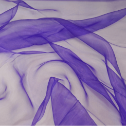 Sheer Organza Fabric Voile Drape Curtain, Wedding Fabric 150cm Wide Purple