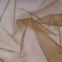 Sheer Organza Fabric Voile Drape Curtain, Wedding Fabric 150cm Wide Chocolate