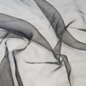Sheer Organza Fabric Voile Drape Curtain, Wedding Fabric 150cm Wide Black