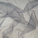 Sheer Organza Fabric Voile Drape Curtain, Wedding Fabric 150cm Wide Graphite