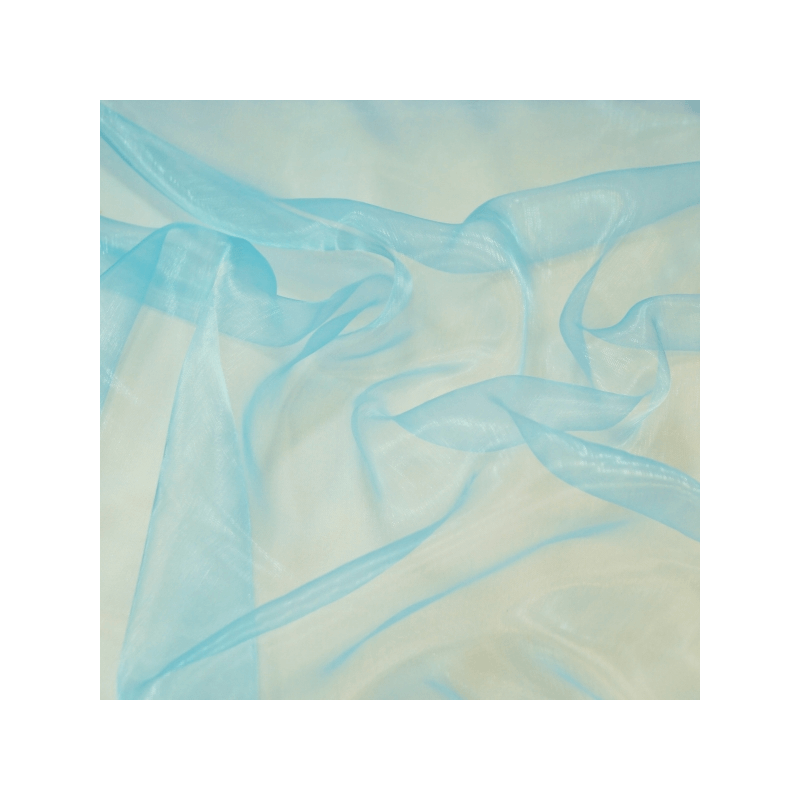 Sheer Organza Fabric Voile Drape Curtain, Wedding Fabric 150cm Wide Sky Blue