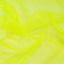 Sheer Organza Fabric Voile Drape Curtain, Wedding Fabric 150cm Wide Flo Yellow