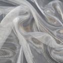 Sheer Organza Fabric Voile Drape Curtain, Wedding Fabric 150cm Wide Silver